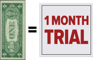 Dollar Month graphic