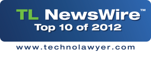 """TechnoLawyer Names TheFormTool """"Top Ten Product of 2012"""""""