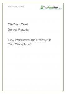 How Productive Effective Is Your Workplace?