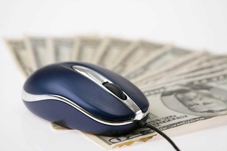 computer mouse and money