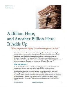 "Cover of the handout ""A Billion Here"""